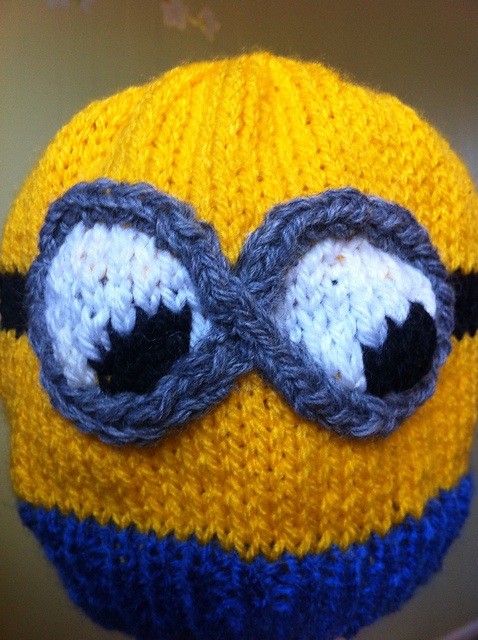 Ravelry Despicable Me Minion Hat 2 Eyed Pattern By The Knit Guru