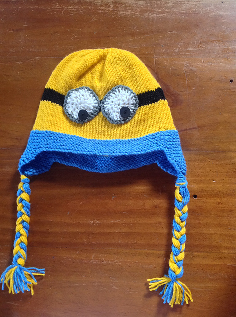 Ravelry Despicable Me Minion Earflap Hat Pattern By The Knit Guru