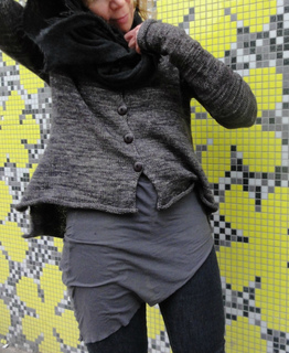 Yellow Wall Cardigan pattern by Judith Brien