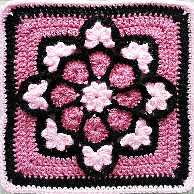 JulieAnny's Stained Glass Afghan Square pattern by Julie Yeager