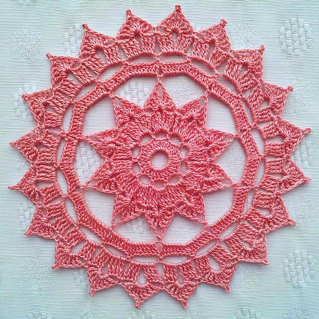 Ravelry Rosette Doily Pattern By Patrizia Pisani