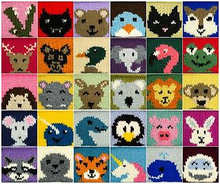 Ravelry Animal Squares Blanket Pattern By Julie Amp The Knits