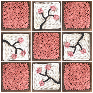 Ravelry Cherry Blossom Square Pattern By Julie Yeager
