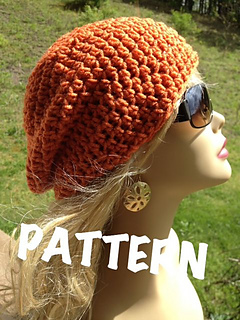 ce821ee5601 Ravelry  Slouchy Beanie Pattern pattern by Anna Anderson
