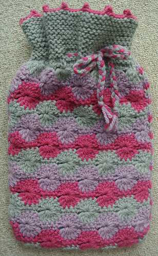 Ravelry Circles Hot Water Bottle Cover Pattern By Sian Brown