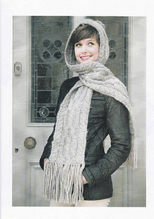 22f67b01bdbb Ravelry  Hooded Cable Scarf pattern by Sian Brown Knitwear Design