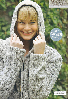 133da9a4a27b Ravelry  Cable Hooded Jacket pattern by Sian Brown Knitwear Design