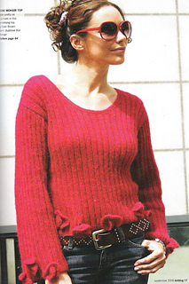 bb3df8a284bd Ravelry  Rib and Flower Jumper pattern by Sian Brown Knitwear Design