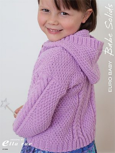 Ravelry: Cable Hooded Cardigan (EY2000) pattern by Leanne Prouse