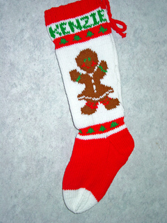ravelry gingerbread girl christmas stocking pattern by mary maxim - Girl Christmas Stocking