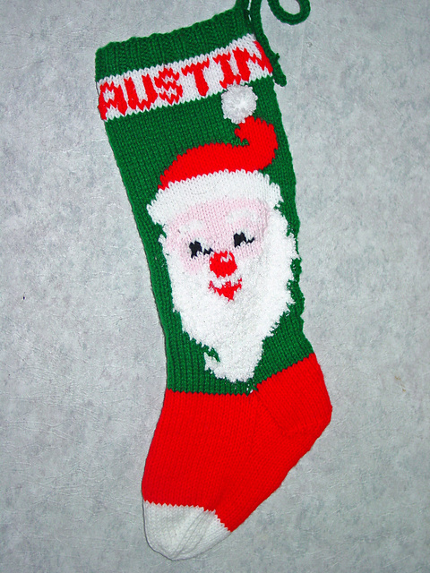 Ravelry Mr Claus Christmas Stocking Pattern By Mary Maxim