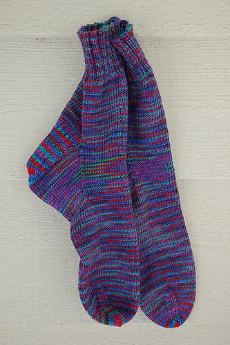 Ravelry Easy Socks On Circular Needles Pattern By Kelly Ann Jensen