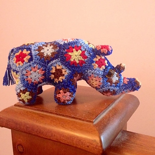 Thandi the African Flower Rhino Crochet pattern pattern by Heidi Bears