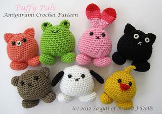 Easy Small Amigurumi : Ravelry: Amigurumi Puffy Pals pattern by Sayjai ...