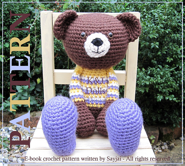 Huggy Bear Amigurumi pattern by Sayjai Thawornsupacharoen