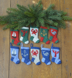 Nautical Christmas Stocking Ornaments Pattern By Karen Ditommaso