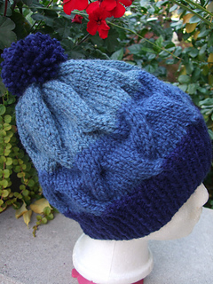 Ravelry Striped Cable Hat Pattern By Patons