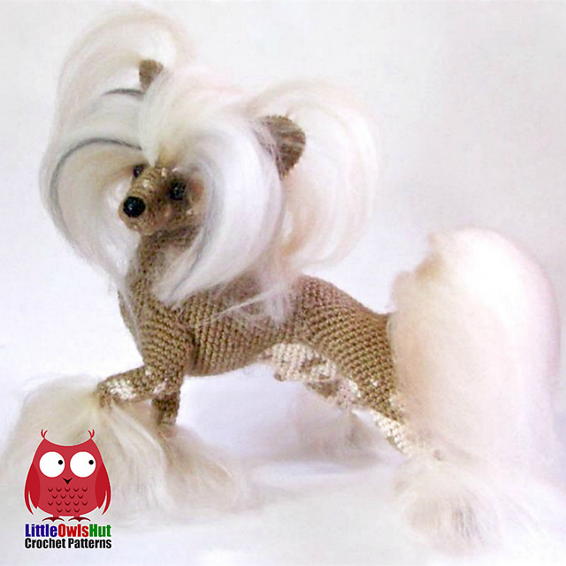 Ravelry 105 Chinese Crested Dog Pattern By Littleowlshut