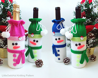 Ravelry 153 Snowman Bottle Covers For Wine And Champagne
