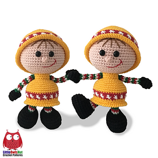 sc 1 st  Ravelry & Ravelry: 171 Doll in a Christmas Bell outfit pattern by LittleOwlsHut