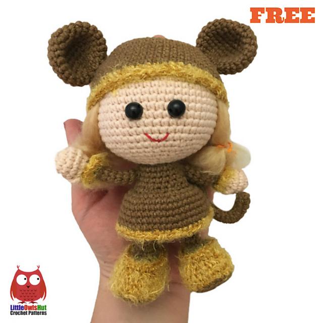 Ravelry 188 Doll In A Viking Monkey Outfit Pattern By Littleowlshut