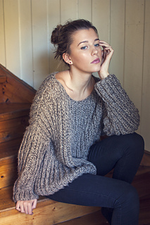 518e71da7 Ravelry  Ribbed Knit Sweater pattern by Katrine