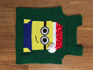 ravelry cute minion ugly christmas sweater vest pattern by katrina roman - Minion Christmas Sweater