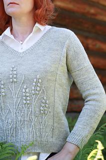 In a Field pullover pattern by Katya Gorbacheva