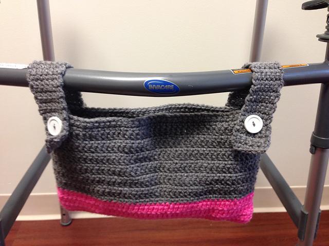 Ravelry: Easy Walker/Wheelchair Bag pattern by Katy Bradley
