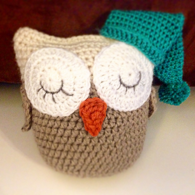 Ravelry Sleepy Time Owl Stuffed Animal Pattern By The Crafty Cats