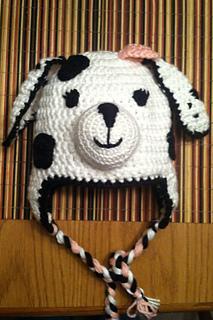 Ravelry Kellie65s Dalmatian Dog Ear Flap Hat