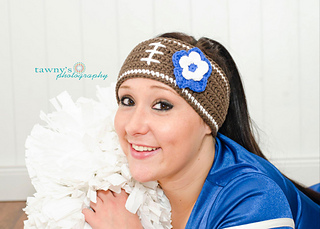 Ravelry  Crochet Football Headband Pattern pattern by Kelly Nail b22fd29fa54