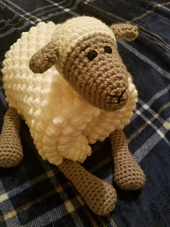 9655d98d9330 Ravelry  Cuddle and Play Sheep Blanket pattern by Aneta Izabela
