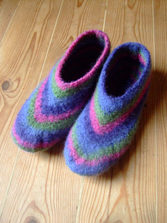 Ravelry Marsh Felted Slippers Pattern By Claudia Olson