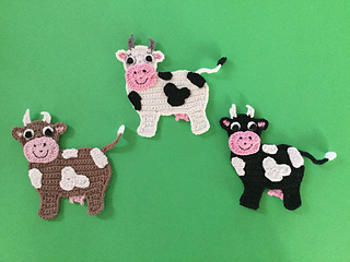 Ravelry: cow applique pattern by kerri brown