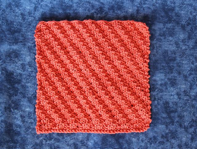 Ravelry: Diagonal Rib Knit Dishcloth pattern by Kimberlees Korner
