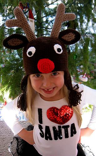 Ravelry Rudolph Reindeer Christmas Crochet Hat Pattern By Kismet