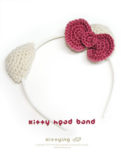 Ravelry Hello Kitty Head Band Pattern By Kittying Ying