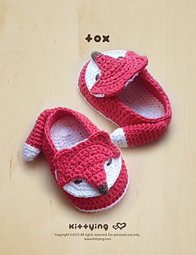 Ravelry: Fox Baby Booties pattern by Kittying Ying
