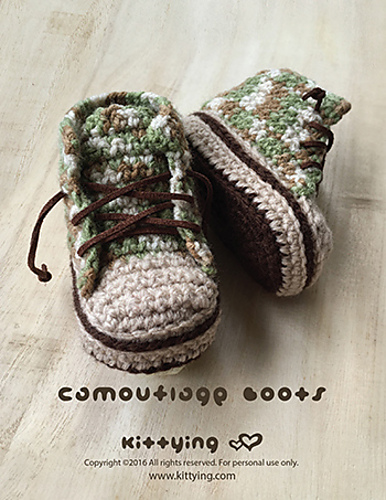 Ravelry: Camouflage Autumn Winter Baby Boots pattern by Kittying Ying