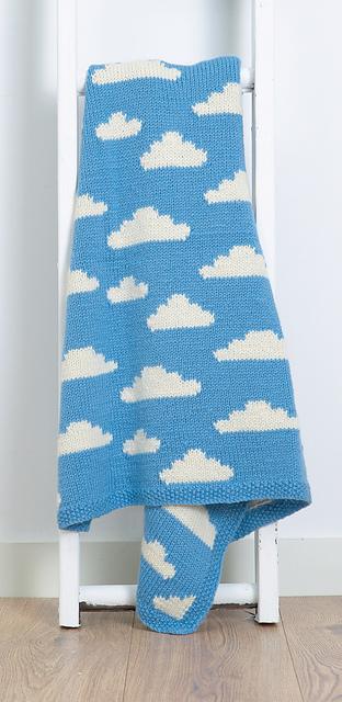 Fluffy White Clouds pattern by Vikki Bird