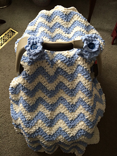 Knit2Purlone & Ravelry: Chunky Chevron Car Seat Canopy Cover pattern by Crochet by ...