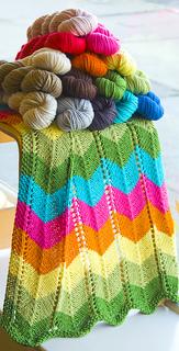 Zig Zag Baby Blanket pattern by knitculture.com