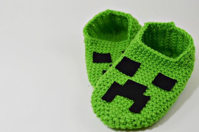 Ravelry Minecraft Creeper Slippers Pattern By Codi Hudnall