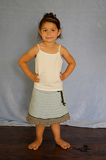 Baby and Toddler Star Stripes Poncho/Skirt pattern by Amy Price