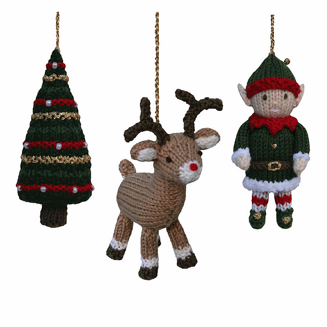 Ravelry Christmas Tree Reindeer And Elf Pattern By Sarah Gasson