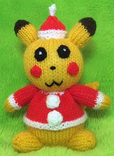 Christmas Pikachu.Christmas Pikachu Choc Orange Cover Toy Pattern By Mary Lucas