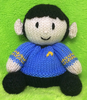 Ravelry Star Trek Spock Choc Orange Cover Toy Pattern