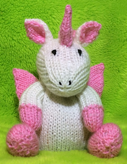 Ravelry Unicorn Choc Orange Cover Fairytale Pony Toy