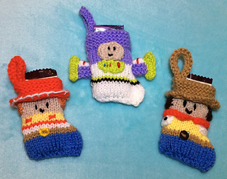 Ravelry Toy Story Inspired Christmas Stocking Decorations Pattern